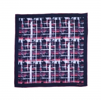 Foulard soie Tweed Dark Blue